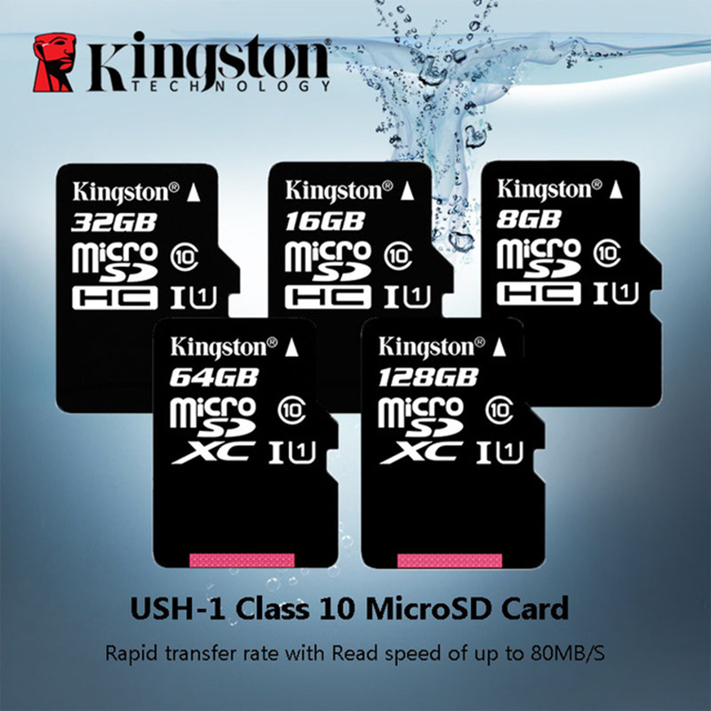 Kingston Memory Card 128GB 64GB 32GB 16GB Micro Sd Card Class10 UHS-1 Flash Card Memory 8G C4 Microsd TF/SD Cards For Smartphone