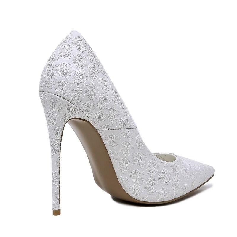 Size34 White Tacones Sapato Zapatos De Puntiagudo Dedo Alto Femenino Las Del Mujeres Slip Zyl2210 Tacón 43 Enmayla Pie Finos on n6w1aqCxYH
