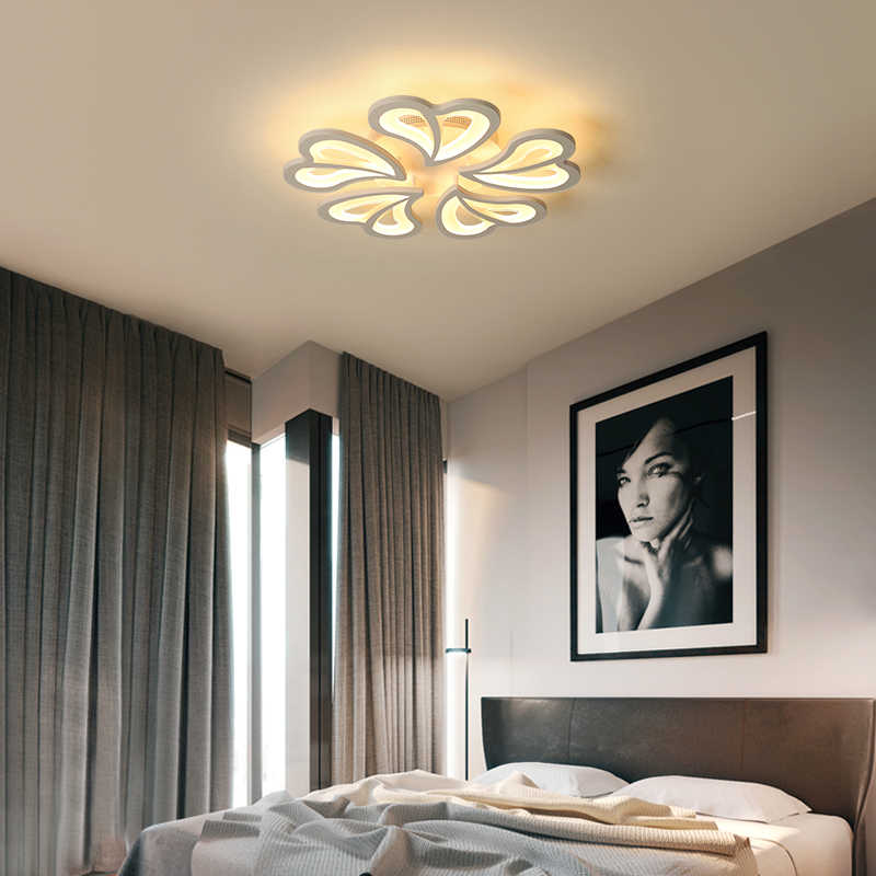 Modern Luster Led Ceiling Lights with Remote Control Ceiling Lamp for Living Room Flush Mount Interior Lighting Bedroom Kitchen