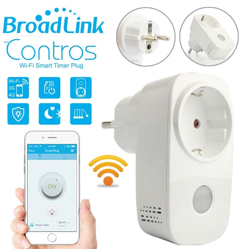 Broadlink SP3 EU SP Mini Contros Smart Wireless WiFi Socket 16A 2200w Power Supply Plug IOS