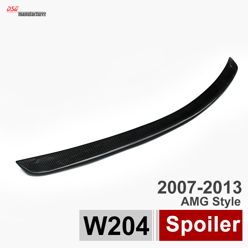 Mercedes W204 Carbon Fiber Trunk Spoiler Car Wing for Benz C Class W204 Sedan C180 C200 C220 C230 C250 C280 C300 C320 hot car abs chrome carbon fiber rear door wing tail spoiler frame plate trim for honda civic 10th sedan 2016 2017 2018 1pcs