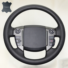 Heated Car Steering Wheel Cover volante de carro  Auto Leather Braid Soft Cover for Land Rover Freelander 2 2013-2015