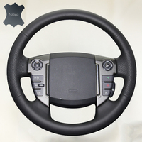 Braid on the Steering Wheel Cover volante de carro Auto Leather Soft Cover for Land Rover Freelander 2 2013 2015