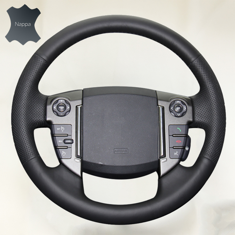 Braid on the Steering Wheel Cover volante de carro Auto Leather Soft Cover for Land Rover Freelander 2 2013-2015