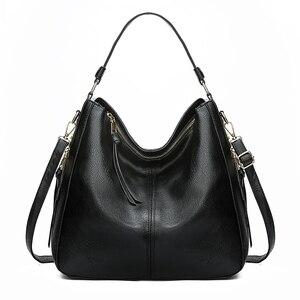 Image 5 - 2020 خمر المرأة الكتف حقيبة كروسبودي الإناث العلامة التجارية حقائب اليد الكبيرة عالية الجودة بولي Leather جلد السيدات المتشرد حقيبة ساعي كيس