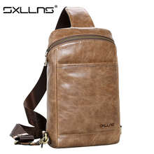 Sxllns New Men Messenger Bag Genuine Leather Shoulder Bag Brand Men's Beach Bag Travel Casual Riding Multifunctional Chest Pack