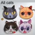 Cat coin purse Zipper cute purse Special unusual bags children's purse kid doll clutch toy baby bags for girls
