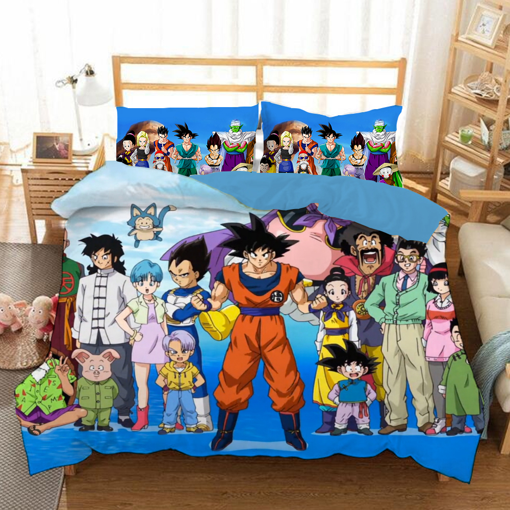 Mxdfafa Anime Dragonball Duvet Cover Set 3D Bedding Sets Luxury Manga Bed Set 3pcs Include 1 Duvet Cover and 2 Pillow CasesMxdfafa Anime Dragonball Duvet Cover Set 3D Bedding Sets Luxury Manga Bed Set 3pcs Include 1 Duvet Cover and 2 Pillow Cases