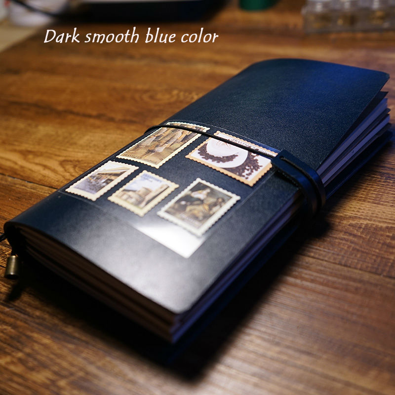 New 100% handcraft high quality genuine leather travelers journal notebook bound elastic style school supplies notebook sosw fashion anime theme death note cosplay notebook new school large writing journal 20 5cm 14 5cm