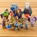 12 pc/set Figura Ação Dos Desenhos Animados Animais de Estimação Novo Filme Zootopia Filme PVC Mini Modelo Crianças Brinquedos Peluches Bonecas Meninas Animação Utopia RT119