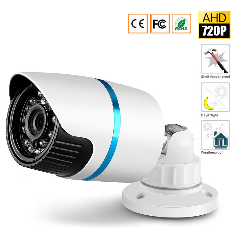 CCTV MIni HD IR-Cut Night Vision AHD Camera Outdoor Waterproof 720P 2000TVL 3.6mm lens Security Bullet Camera outdoor waterproof 720p ahd camera 1 0mp bullet 4 array ir leds home security camera waterproof night vision ir cut 4mm lens cam