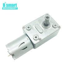 Bringsmart Turbo Geared Motor 12V 24V Mini Gearbox Worm Gear DC Motor 12 Volt Engine 370 Self-locking Positive Inversion Reducer
