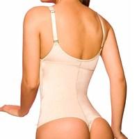 NINGMI Latex Shaper Bodysuit Women Postpartum Firm Control Thongs Body Briefer Shapewear Adjustable Stap Waist Trainers