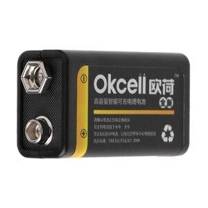 Image 2 - 9V 800mAh Micro USB Aufladbare Lipo Batterie für Multimeter Mikrofon Fernbedienung