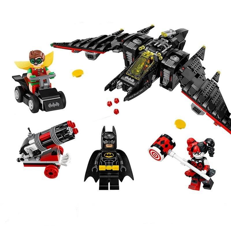 WAZ Compatible Legoe batman 70916 Lepin 2017 07080 1068pcs super heroes Batwing Figure building blocks bricks toys for children