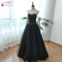 Black Evening Dresses Sweetheart Floor Length Special Occasion Gowns Prom Wear Vestido De Noiva ZE043