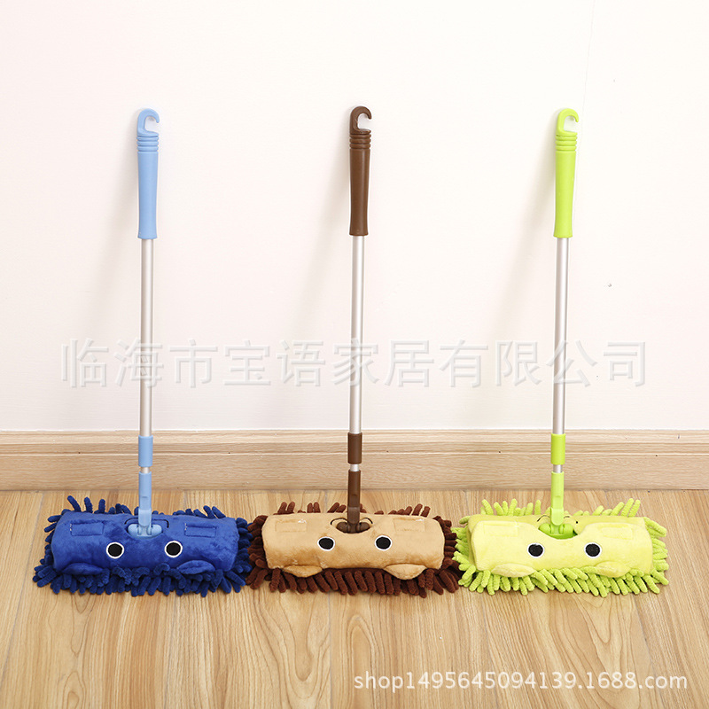 Baby mini house sweeping cleaning toy combination child mop broom set telescopic flat drag in Kitchen Toys from Toys Hobbies