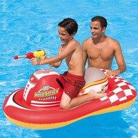 Kids Ride on Water gun motorboat Kids Swimming Pool Float Raft Pool Rafts Summer Water Sports ToySummer Pool Floats Fun Party