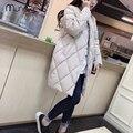2017 Coreano Algodão-acolchoado Mulheres Jaqueta de Inverno Para Baixo Médio-longo Casaco de Algodão Parkas Plus Size Fêmeas Magros Senhoras jaquetas e Casacos dos homens