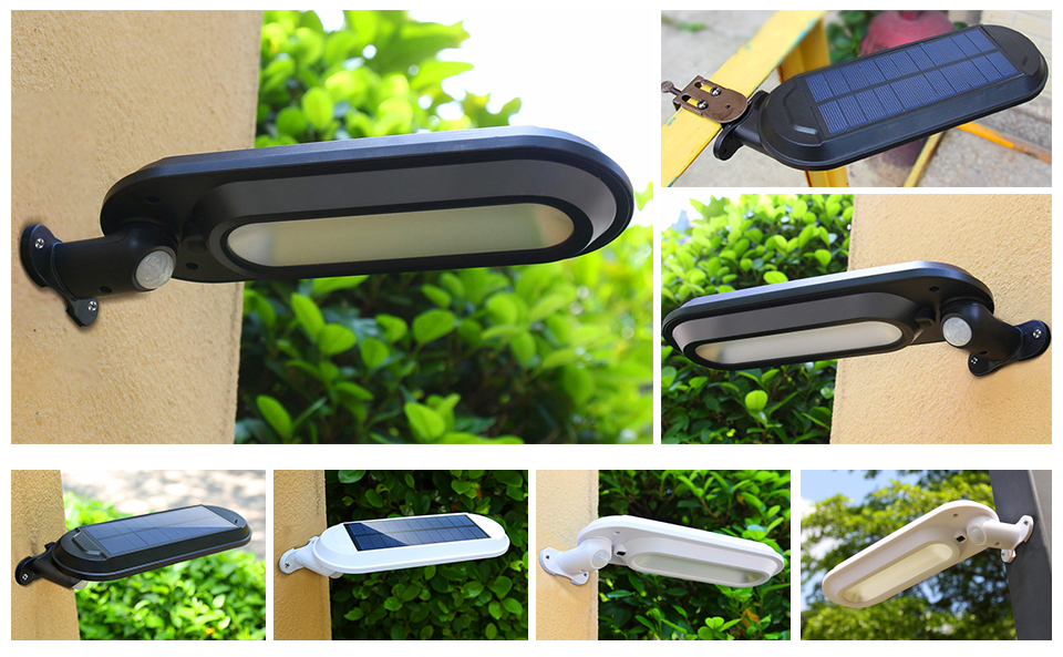 CHIZAO Eco Friendly and Wall Mounted Outdoor Solar Charge Motion Sensor LED with 600 Lumens 20