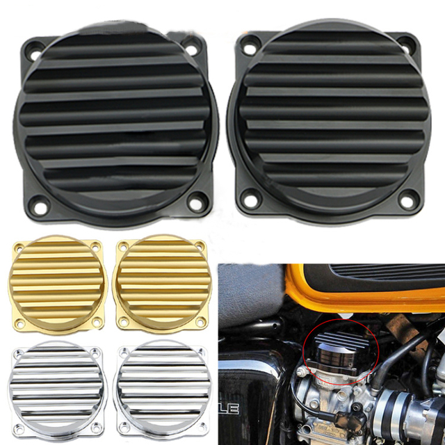 For Triumph Injection Carburetor Cover Ripple Brass Carb Tops Top