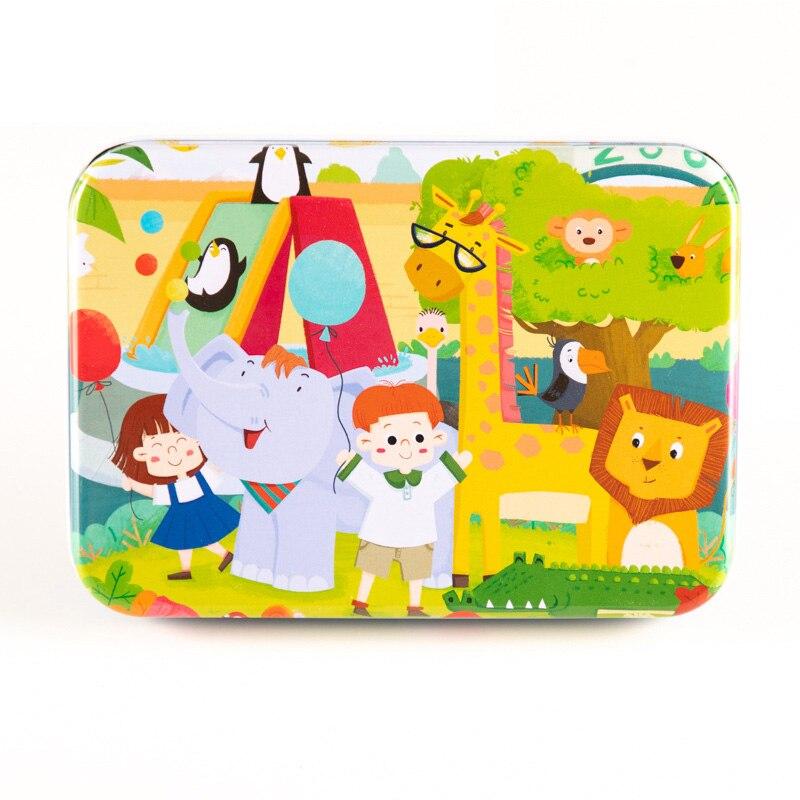 Holz Puzzle Puzzle Spielzeug Kinder Holz Cartoon Jungen Puzzles Intelligenz Kinder Früh Pädagogisches Spielzeug Für Kinder - 3