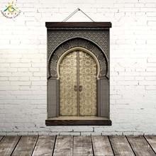 Лучший!  Исламский Королевский Дворец Фай Фай Старинные Плакаты и Отпечатки Прокрутки Живопись на Холсте