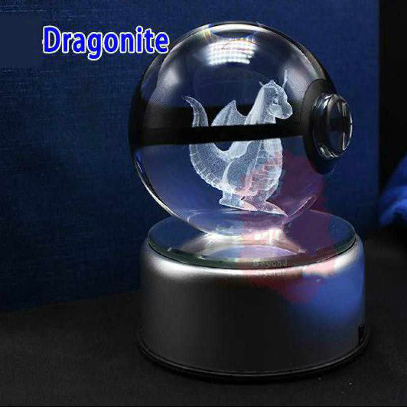 ポケモンクリスタル透明 3d ランプ直径 5 センチメートルボタンガラスボールファンシーナイトライトポケモンのおもちゃの装飾のギフトのため