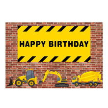 Laeacco Baby Birthday Backdrops Party Brick Wall Toys Cartoon Newborn Poster Photography Backgrounds Photocall Photo Studio