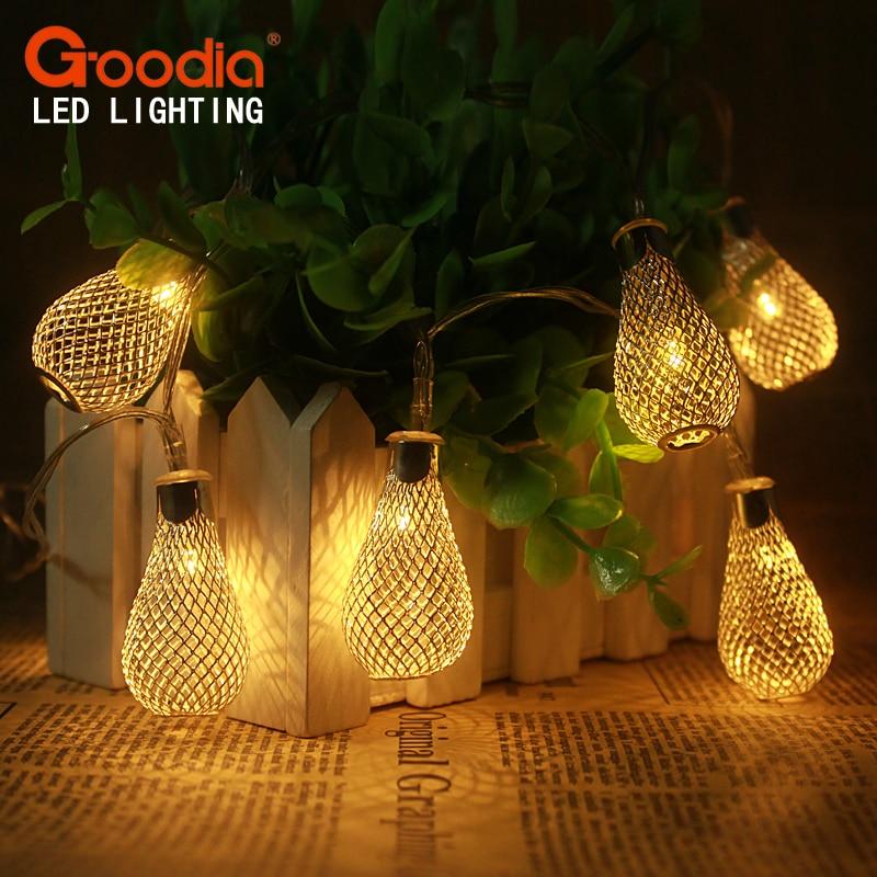 2M 20LED String Lights Bateri aa Lampu Krismas Pernikahan Fairy - Pencahayaan perayaan - Foto 1