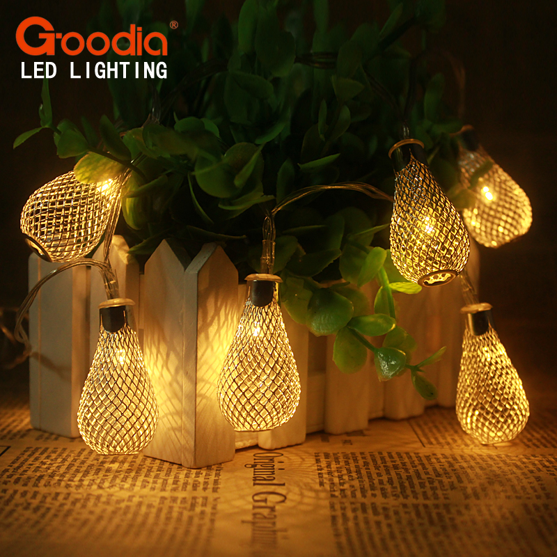 2M 20LED String Lights Battery aa Wedding Christmas lights Fairy Pendant Garland Decor Bedroom Holiday Decoration ...