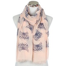 FOXMOTHER New Fashion White Pink Grey Color Cat Scarf Shawl For Women Ladies Gifts