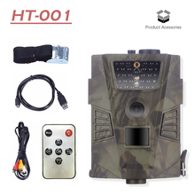 HT-001 Infrared Hunting Trail Camera dengan 30pcs IR LED 940NM Night Vision Photo perangkap tanpa kamera Layar LCD