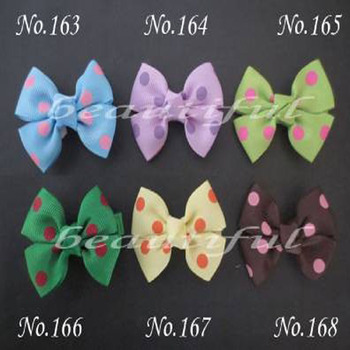 """300 BLESSING Good Girl Custom Boutique 2.5"""" Bowknot Hair Bow Clip #420 Wholesale"""