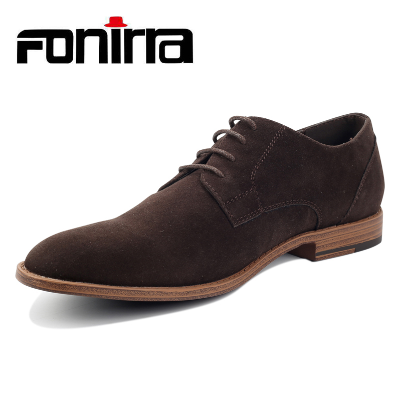 FONIRRA Fashion Men Suede Leather Casual Shoes Spring Men Flats Lace Up Male Oxfords Men Soft Leather Shoes Chaussure Homme 404 men leather casual shoes lace up man flat luxury fashion chaussure homme soft zapatos hombre summer men genuine leather shoes