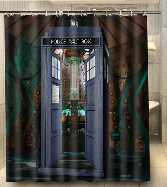 Home Decoration Doctor Who Police Box Best 012 Modern Custom 160x180cm Shower Curtain Bathroom Waterproof Eco