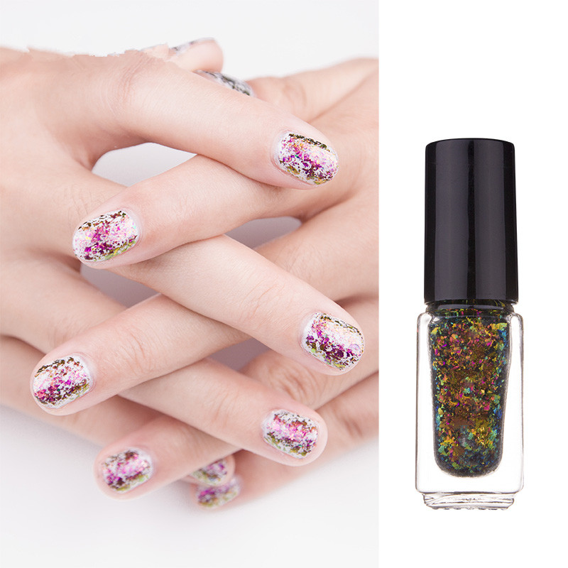 Follome Laser Star Nail Polish Gradient Glitter Permanent Long ...