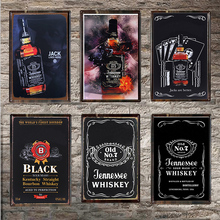 Whiskey Vintage Tin Sign Bar Pub Home Wall Decor Retro Metal Art Beer Coffee Poster Plate 1001(885) 20x30cm
