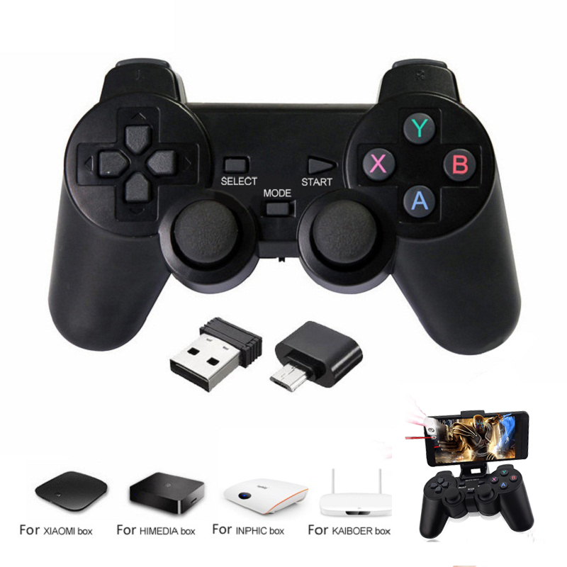 For PS3 PC Android Phone TV Box Wireless Bluetooth Gamepad Controller For Xiaomi OTG Smart Phone Game Controller Joystick