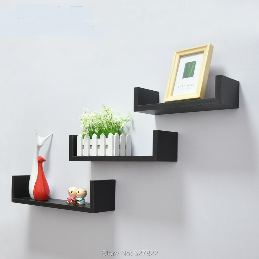 Medium Of Triangular Floating Shelves