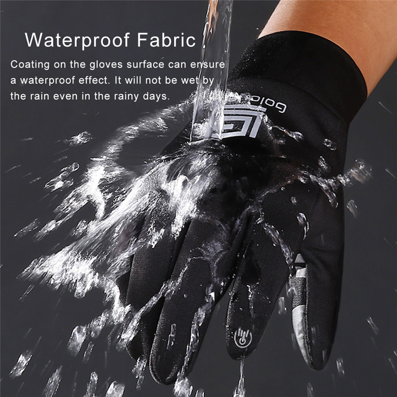 Waterproof Fleece Men Women Ski Gloves Wind-proof Thermal Touch Screen Outdoor Sport Cycling Snowboard Gloves
