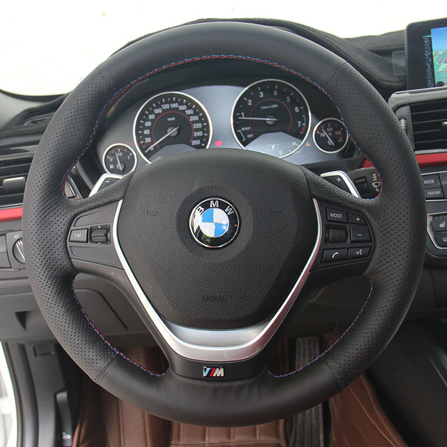 Steering Covers Case for BMW 320 M135 328 335 328i Steering Wheel Covers Car Styling DIY Genuine Leather