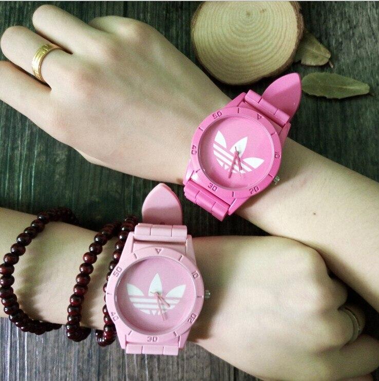 US $4 99 |2015 Fashion AD Sport Watch Wristwatch Girl Ladies Clover  Silicone Watch Quartz 3 Leaf Grass Leisure Sport Watch for Women-in Lover's