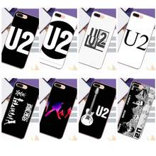 Soft Phone Cover Case Capa U2 Black And White Logo For Xiaomi Redmi 5 4A 3 3S Pro Mi4 Mi4i Mi5 Mi5S Mi Max Mix 2 Note 3 4 Plus(China)