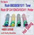 Refill Тонера Для Ricoh Aficio SP C410 C411 Принтер Для Ricoh SPC 410 411 Принтер, Используйте Для Ricoh 888308 888309/10/11 Тонера