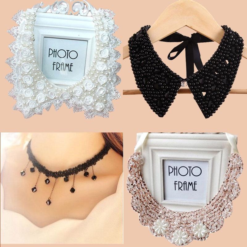 2019 New Detachable Collar Fashion Women Fake Collar Handmade Jewelry Collar 23 Models