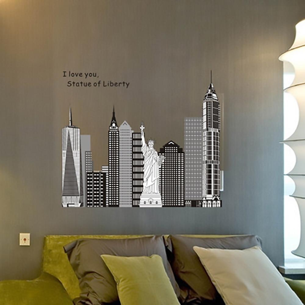 New York City Bedroom Wallpaper Aliexpresscom Buy Zooyoo The Statue Of Liberty New York City