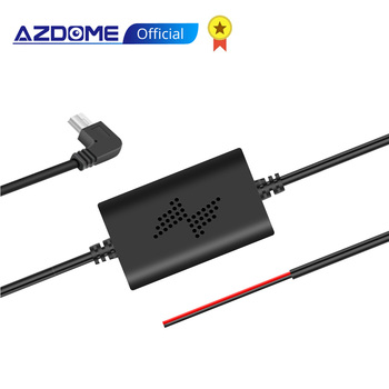 AZDOME 12/24V to 5V 2.5A Mini USB Hardwire Kit DVR Power Adapter Cable for M01 M06 GS63H PG01 Dash Cam, Low Voltage Protection