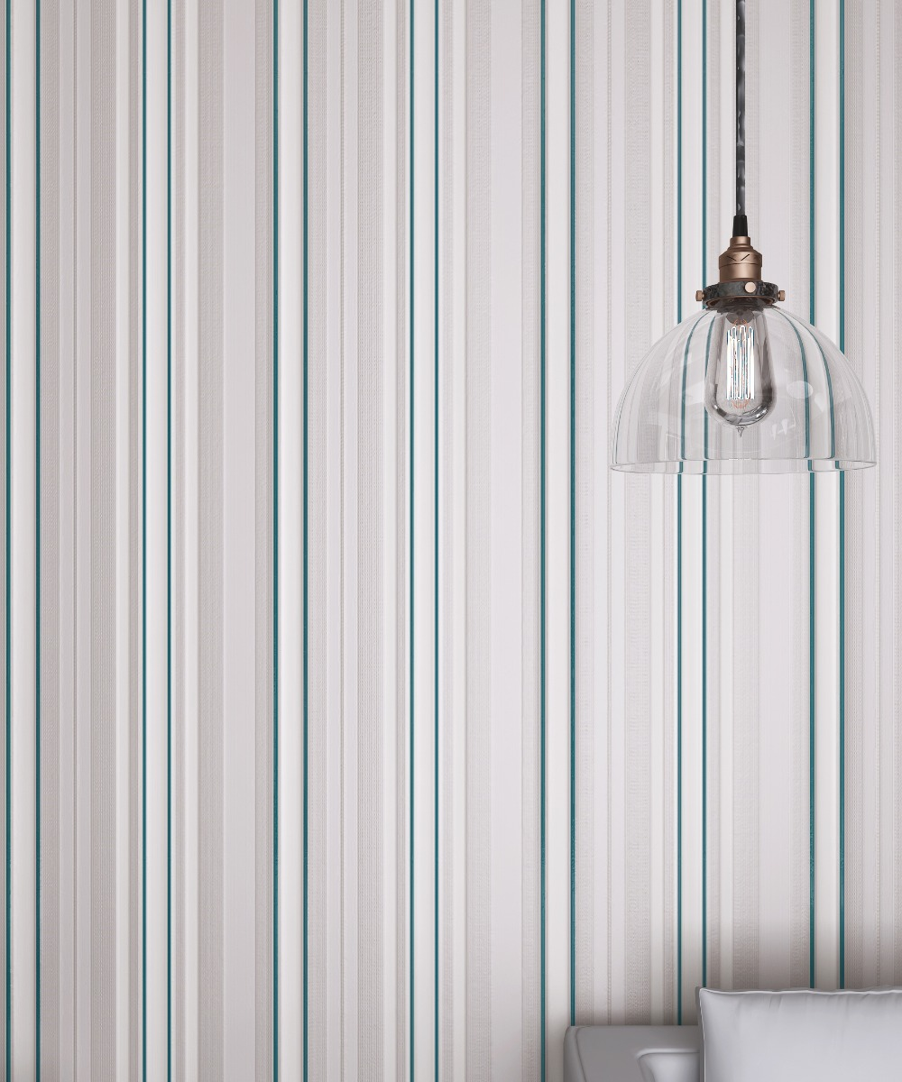 Gray Verticall Stripes Velvet Flocking Wallpaper Textile Wallcovering Bedroom купить недорого в Москве