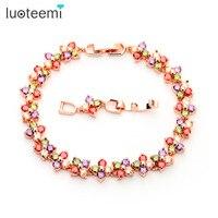 Teemi 2015 New Hot Design Real 18K Rose Gold Women Luxury Wedding Accessories Jewelry Multi AAA